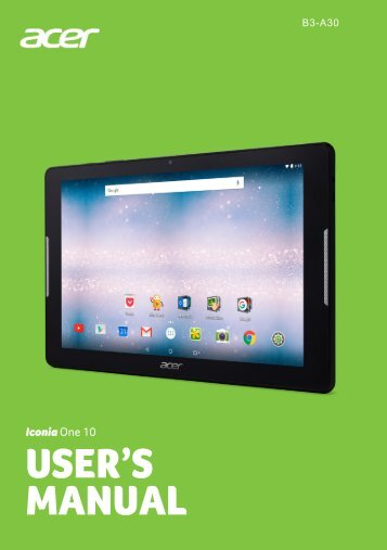 manual acer iconia a3 rh yumpu com Acer A110 Acer A100 Tablet Won't Start