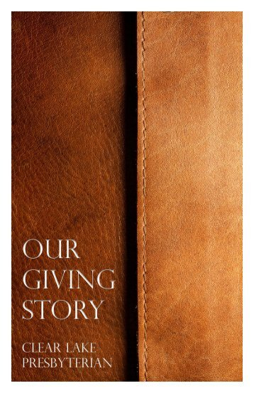 Our Giving Story booklet