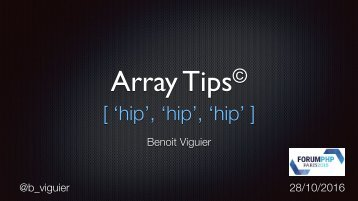 Array Tips