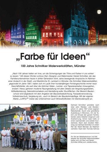 """""""Farbe für Ideen"""" - Schnitker - Maler"""