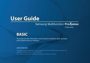 Samsung Samsung Multifunction Printer ProXpress C3060FW - SL-C3060FW/XAA - User Manual ver. 1.0 (ENGLISH,21.5 MB)
