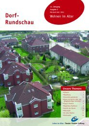 Dorf-Rundschau Mai-Juni-Juli 2012 - Theodor Fliedner Stiftung