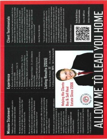 Personal Brochure - Inside