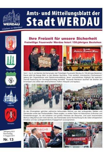 Nr. 13 Ihre Freizeit für unsere Sicherheit - Stadt Werdau