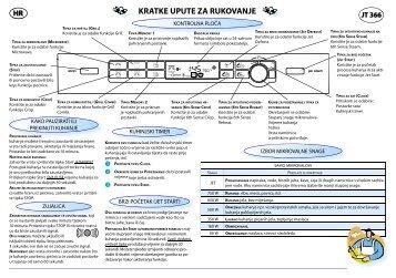 KitchenAid JT 366 WH - Microwave - JT 366 WH - Microwave HR (858736699290) Guide de consultation rapide