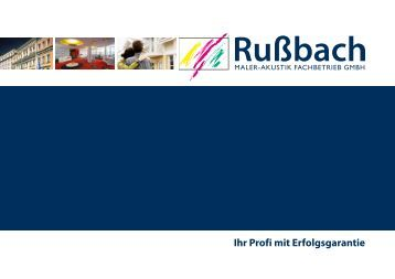 Ihr Profi mit Erfolgsgarantie - Rußbach Maler–Akustik Fachbetrieb ...