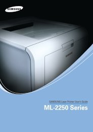 Samsung ML-2250 - ML-2250/XAA - User Manual ver. 4.00 (ENGLISH,9.27 MB)