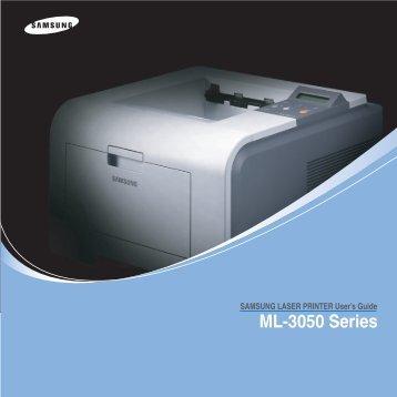 Samsung ML-3051ND - ML-3051ND/XAA - User Manual ver. 3.00 (ENGLISH,9.08 MB)