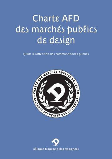 Charte AFD des marchés publics de design