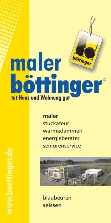 "Broschüre ""Maler.pdf"" - Böttinger - Maler · Werbung"