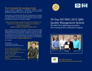 ISO 9001 2015 Training Certification Consulting Auditing Orlando Florida