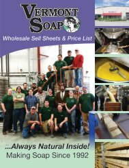 Vermont Soap Wholesale Catalog