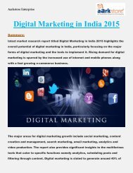 Digital Marketing in India 2015