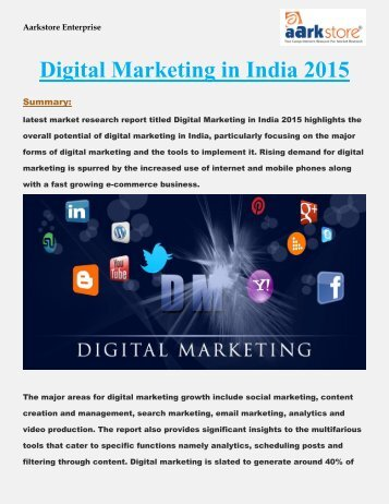 Digital Marketing in India 2015