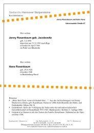 Jenny Rosenbaum geb. Jacobowitz