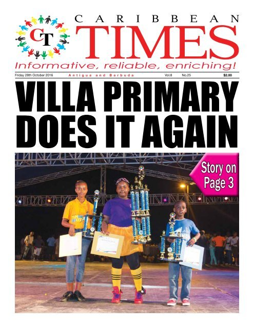 Caribbean Times 25th Issue - Friday 28th October 2016