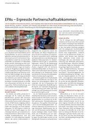 Freihandel? - Economic Partnership Agreements (EPAs)