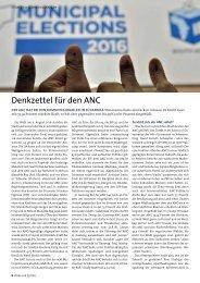 Südafrika: Kommunalwahlen