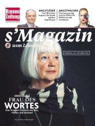 s'Magazin usm Ländle, 30. Oktober 2016