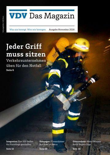 VDV Das Magazin Ausgabe November 2016