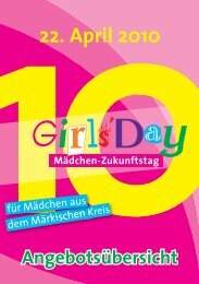 Girls' Day 2010 - Das Programm (PDF-Dokument) - Iserlohn