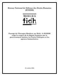 Réseau National de Défense des Droits Humains (RNDDH)