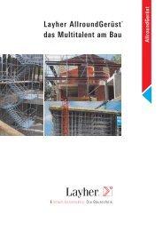 Layher AllroundGerüst - Layher Bautechnik Onlineportal