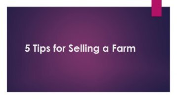 5 Tips For Selling a Farm