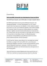 Pressemitteilung zum Download - factoring plus AG