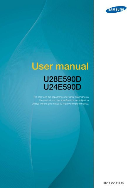 "Samsung 23.6"" Monitor with High Glossy Finish - LU24E590DS/ZA - User Manual (ENGLISH)"
