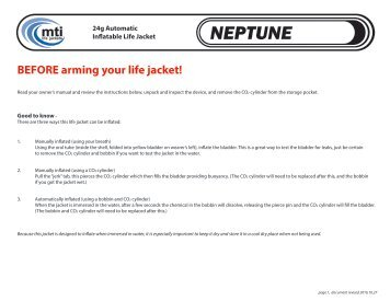 MTI-4005 Neptune Arming Instructions