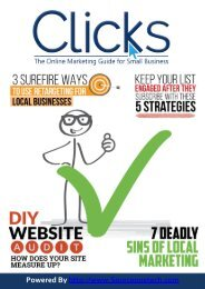 October issue of Clicks - The Online Marketing Guide for Small Business