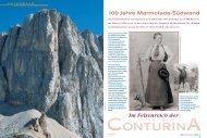 Im Felsenreich der 100 Jahre Marmolada-Südwand