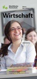 Anschluss- möglichkeit Master-Studium - Fachbereich Wirtschaft