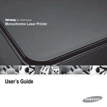 Samsung ML-1630W - ML-1630W/XAA - User Manual ver. 4.00 (ENGLISH,6.65 MB)