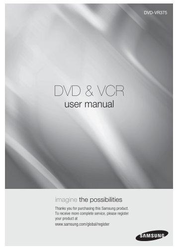 vcr recorder combo with 1080p upconversion rh yumpu com samsung dvd recorder vcr vr320 manual samsung vcr dvd combo manual