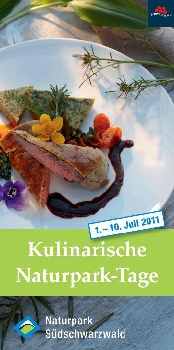 Kulinarische Naturpark-Tage - Naturpark Südschwarzwald