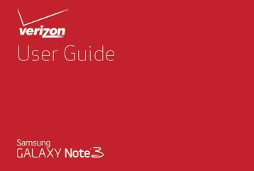 Samsung Samsung Galaxy Note® 3 (Verizon), Developer Edition - SM-N900VMKEVZW - User Manual (ENGLISH(North America))