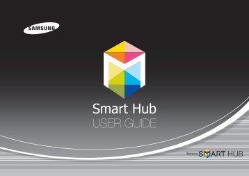 Samsung 3D Blu-ray™ with Built-in WiFi (BD-EM59C) - BD-EM59C/ZA - Smart HUB Manual ver. 1.0 (ENGLISH,50.33 MB)