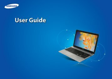 "Samsung ATIV Book 2 (15.6"" HD / Core™ i5) - NP270E5E-K03US - User Manual (Windows 8) (ENGLISH)"