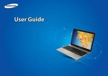 "Samsung ATIV Book 2 (15.6"" HD / Core™ i5) - NP270E5E-K03US - User Manual (Windows 7) ver. 1.6 (ENGLISH,17.64 MB)"