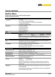 Teknisk faktablad StoPrim Micro
