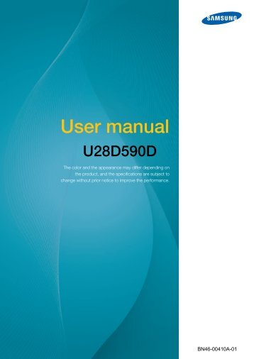 "Samsung U28D590D - Samsung UHD 28"" Monitor with Metallic Easel Stand - LU28D590DS/ZA - User Manual (ENGLISH)"