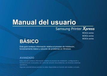 Samsung Printer Xpress M2830DW - SL-M2830DW/XAC - User Manual ver. 1.0 (SPANISH,16.72 MB)
