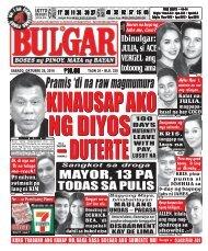 October 29, 2016 BULGAR: BOSES NG PINOY, MATA NG BAYAN