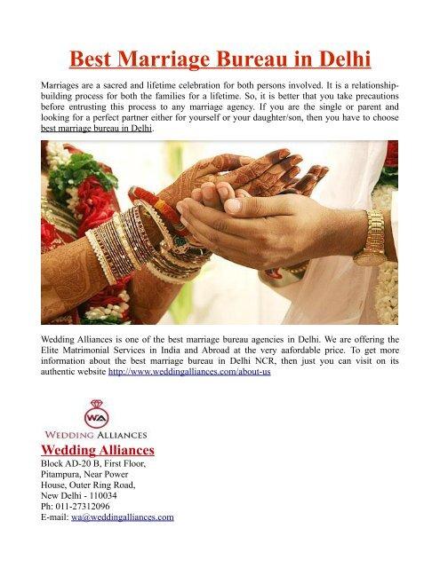 Best Marriage Bureau in Delhi