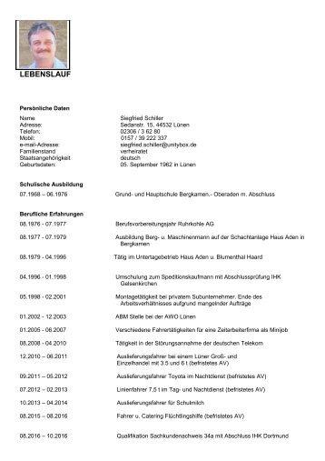 Siegfried Schiller Lebenslauf 3