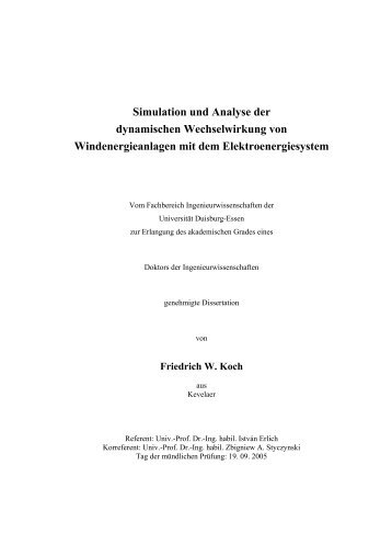 Simulation und Analyse der dynamischen Wechselwirkung von ...