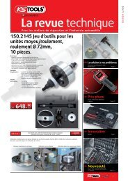 Pour les ateliers de réparation et l'industrie automobile - KS Tools AG