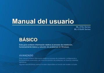 Samsung Black & White Laser Printer - 21 PPM - ML-2165W/XAC - User Manual ver. 1.0 (SPANISH,7.84 MB)